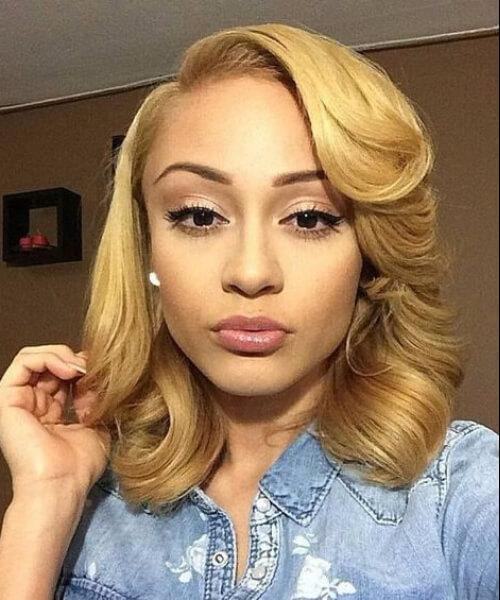 blonde medium classic curls sew in hairstyles