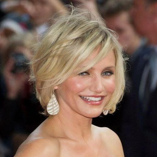 cameron diaz haircuts for round faces