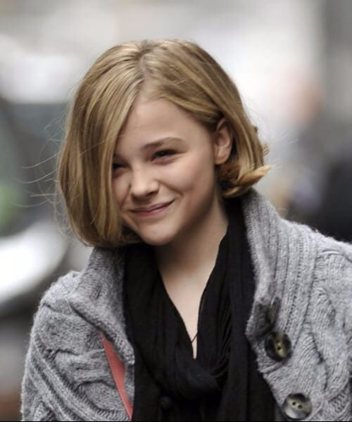 chloe grace moretz updos for short hair