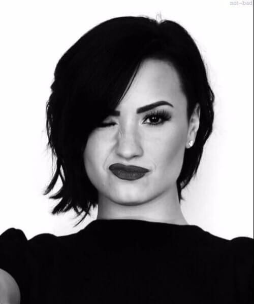 demi lovato updos for short hair