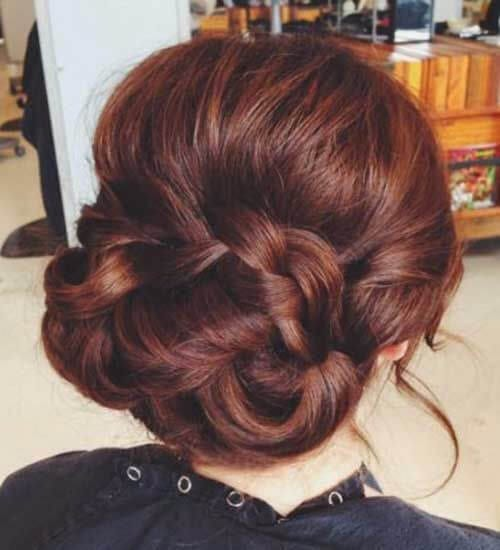 elegant auburn hair color