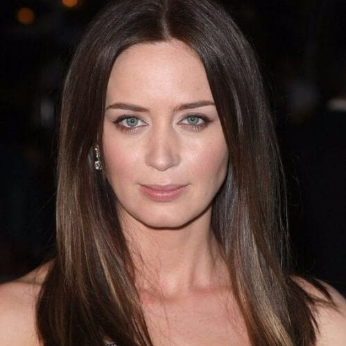 emily blunt haircuts for round faces