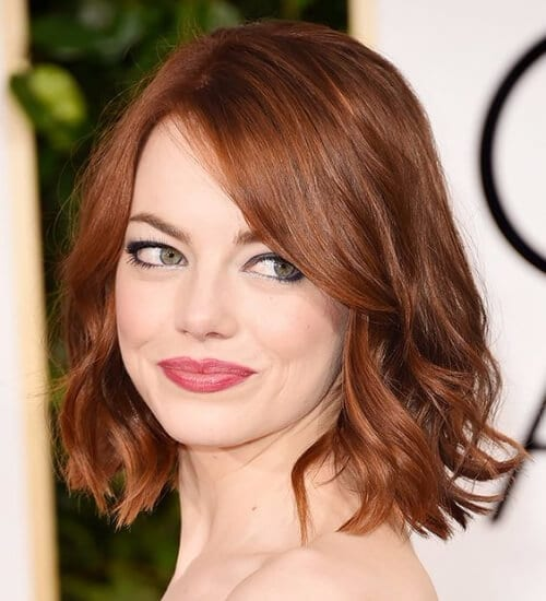 emma stone bob auburn hair color