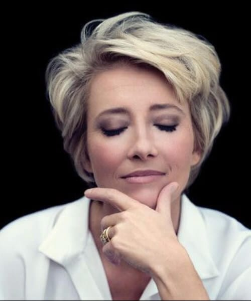 emma thompson short blonde hair