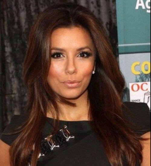 eva longoria auburn hair color