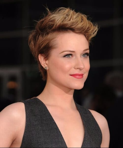 evan rachel wood short blonde hair