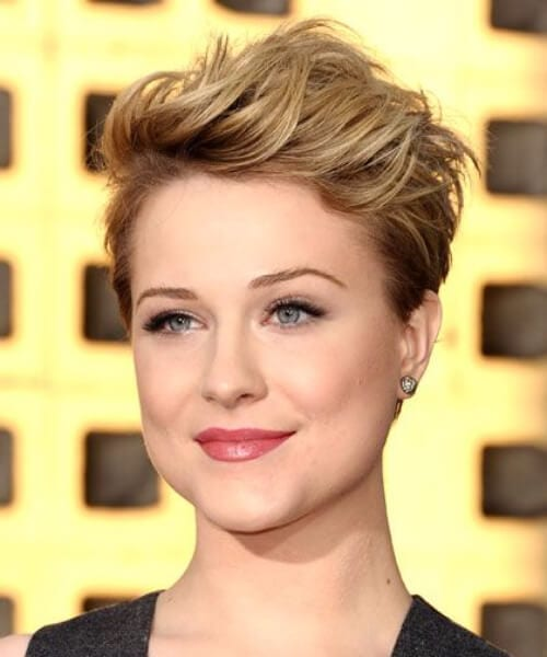 evan rachel wood updos for short hair