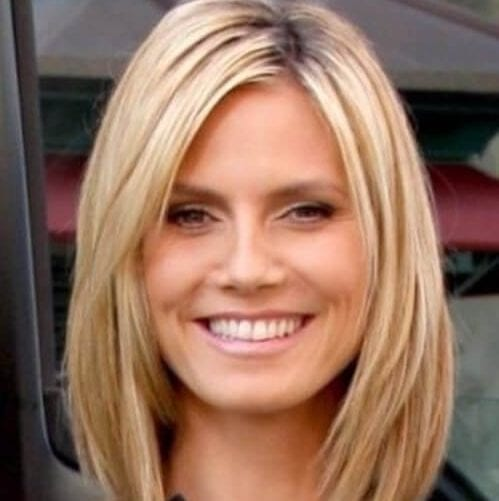heidi klum haircuts for round faces