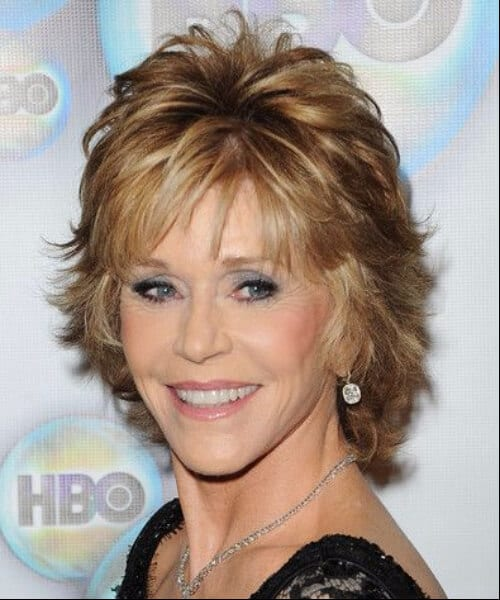 jane fonda updos for short hair women over 50