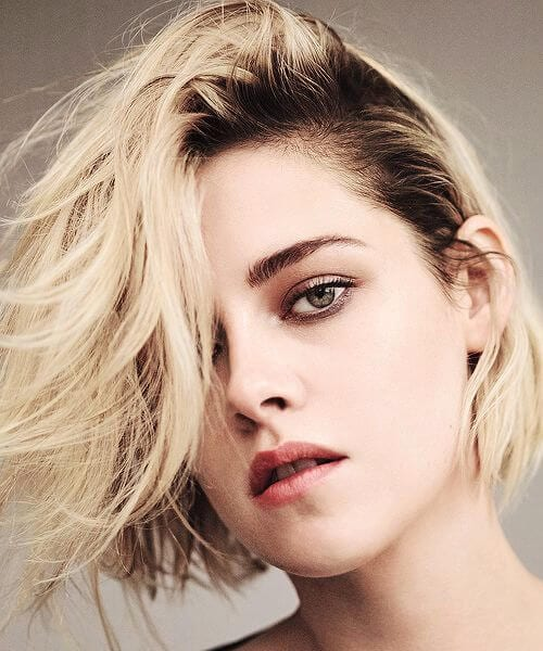 kristen stewart short blonde hair