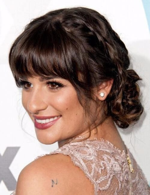 lea michele bridesmaid hairstyles