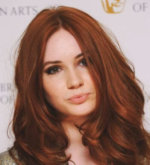 lighter auburn hair color