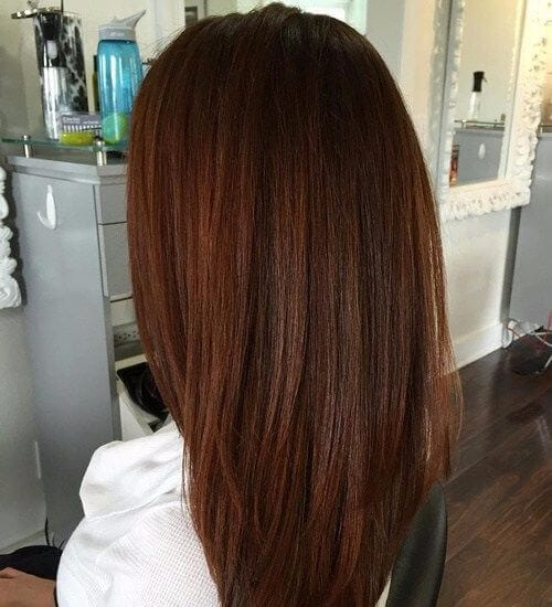 long layered auburn hair color