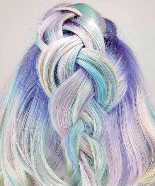 mermaid hair updos for short hair