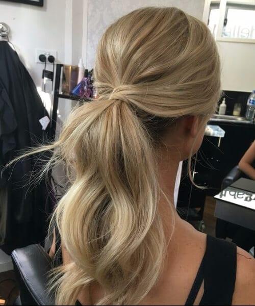 messy ponytail prom updos