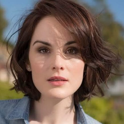 michelle dockery haircuts for round faces