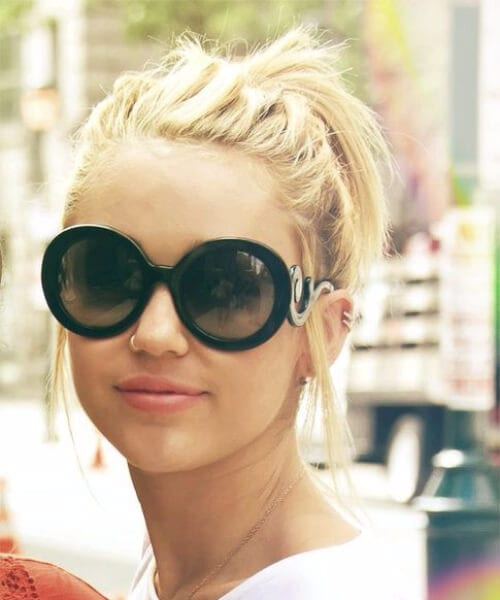 miley cyrus short blonde hair