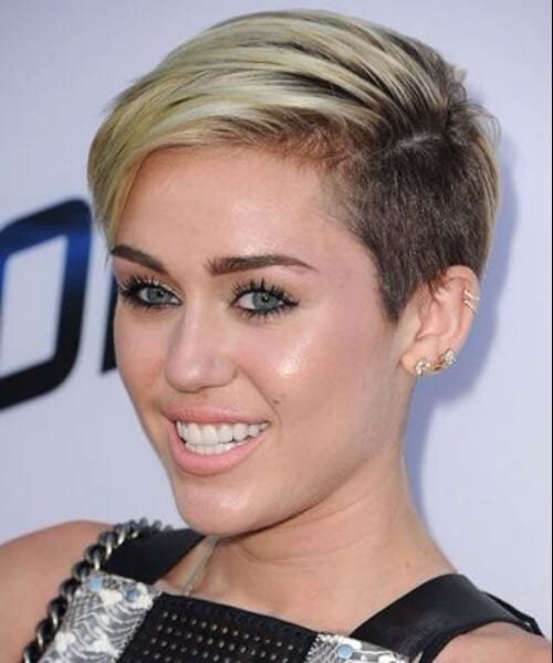 miley cyrus updos for short hair