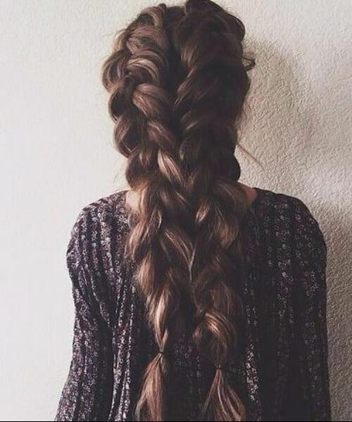 oversized braids prom updos