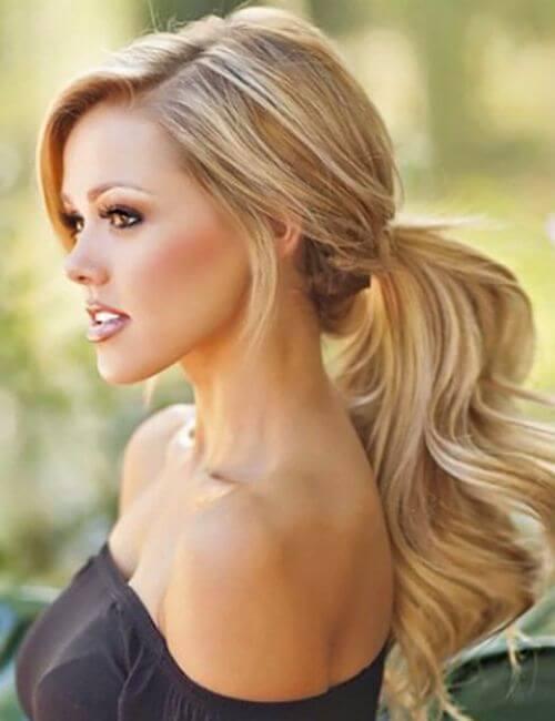 ponytail bridesmaid hairstyles