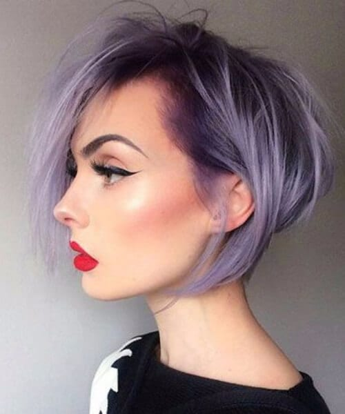 purple updos for short hair