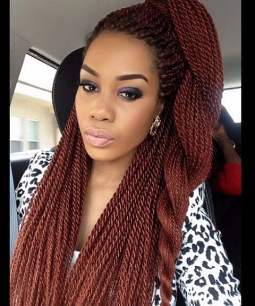 red jumbo braid senegalese twist