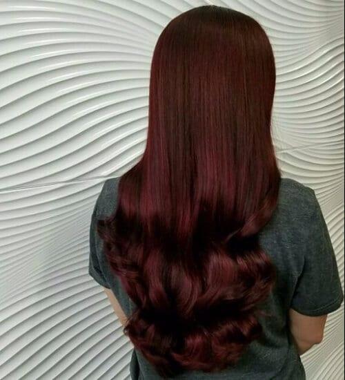 refined auburn hair color