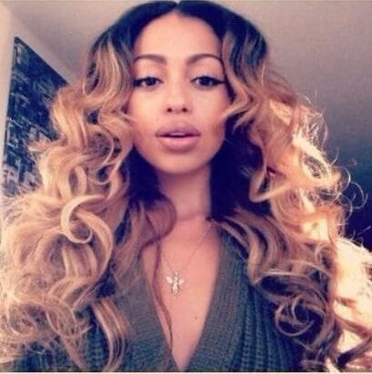 relaxed blonde curls sew in hairstyles