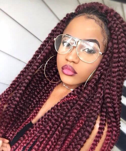 rhubarb godess braids sew in hairstyles