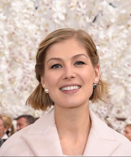 rosamund pike updos for short hair