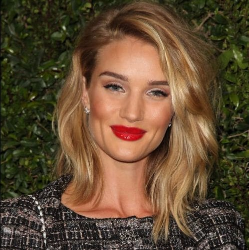 rosie huntington whiteley haircuts for round faces
