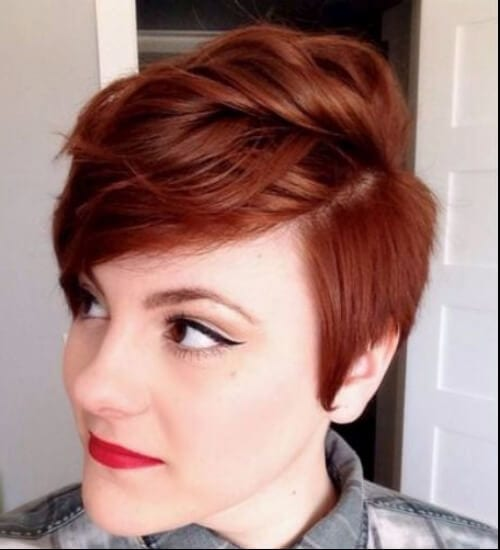 short auburn hair color