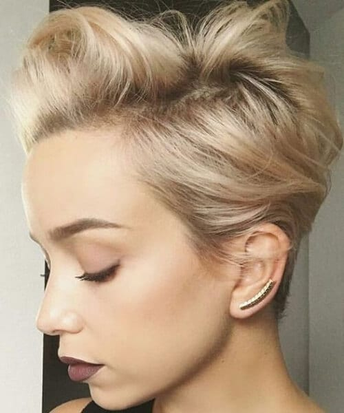 short blonde hair
