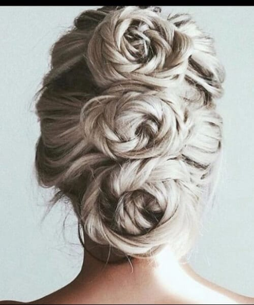 three icy roses prom updos
