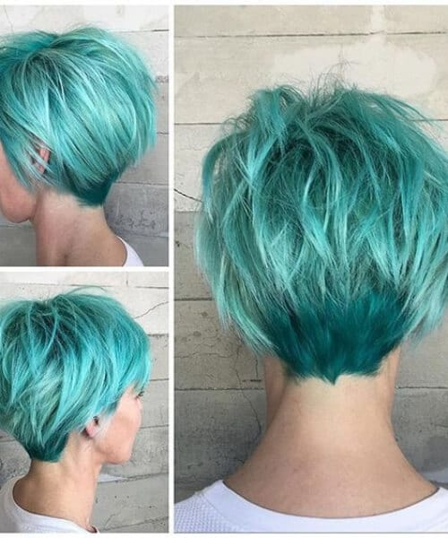 turquoise hair updos for short hair