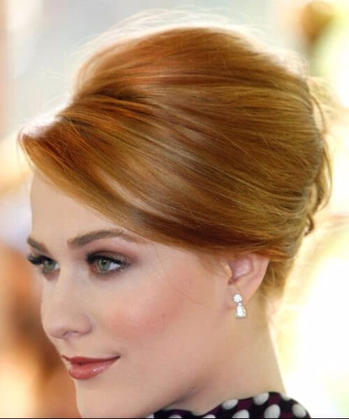 updos for short hair ginger