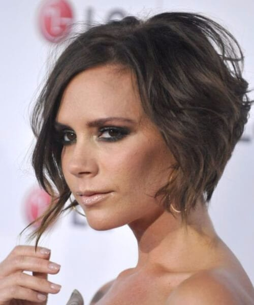 victoria beckham sexy updos for short hair