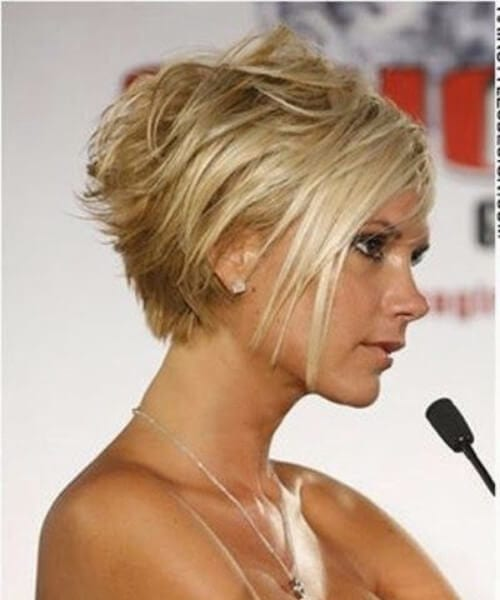 victoria beckham short blonde hair
