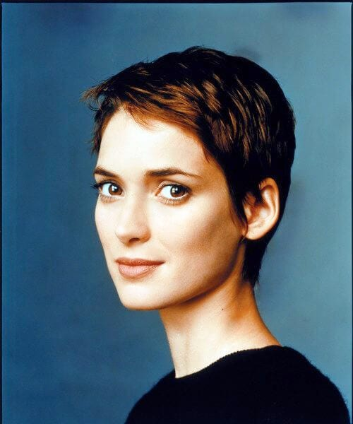 winona ryder updos for short hair