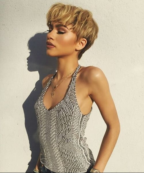 zendaya updos for short hair