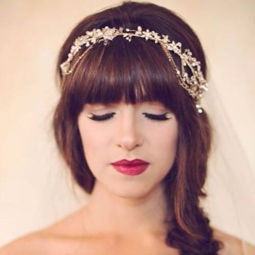 Wedding Updos Chic and Pretty Bangs