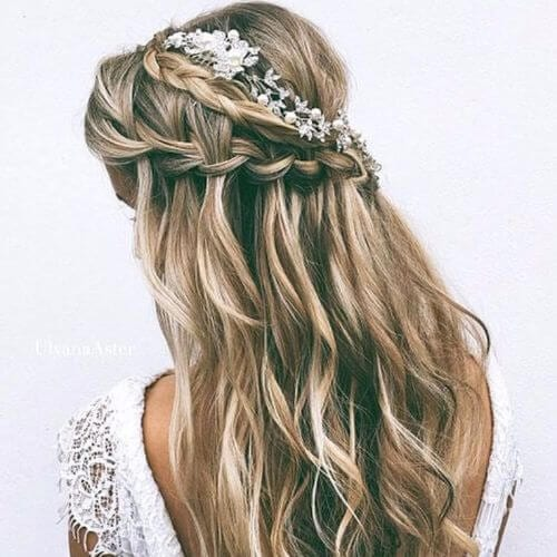 Wedding Updo Waves, Braids and Highlights