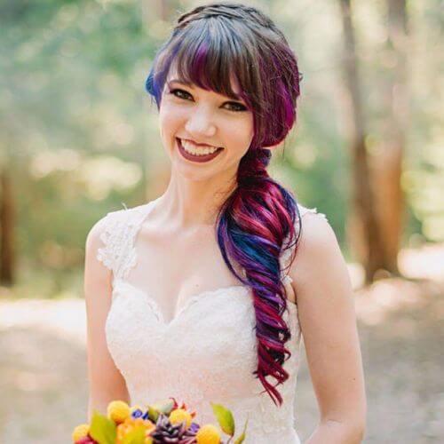 Wedding Updo Rainbow Bride