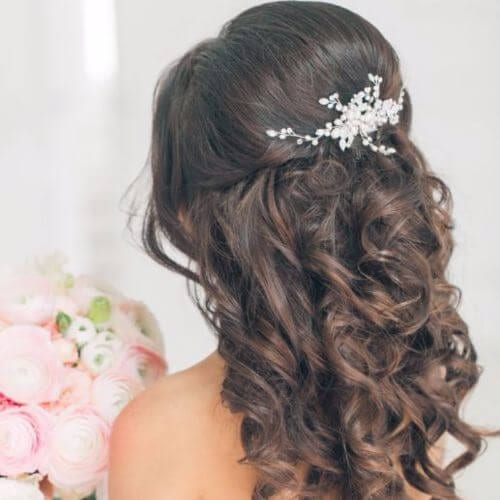Wedding Updos Half Down Whimsical Curls