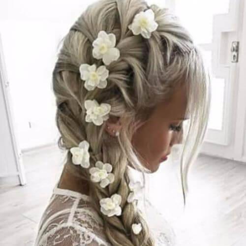 Wedding Updos One Side Rope Braid