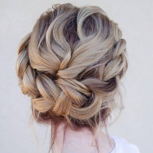 Wedding Updos Ombre Low Braided