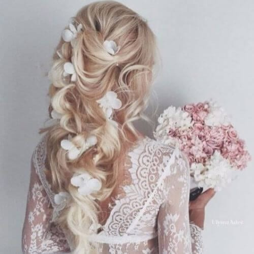 Wedding Updos Wavy and Loose