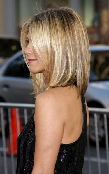 jennifer aninston sleek shiny bob