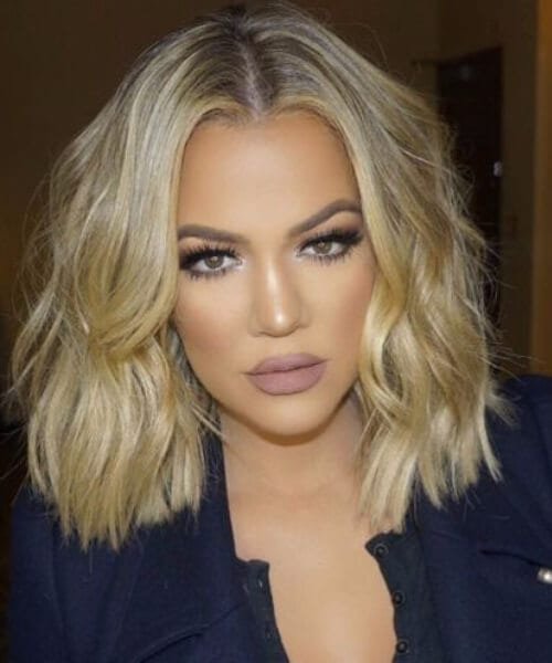 khlow kardashian short blonde hair