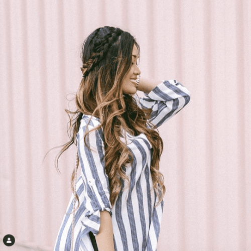 Balayage Ideas with Braided Crown and Highlights